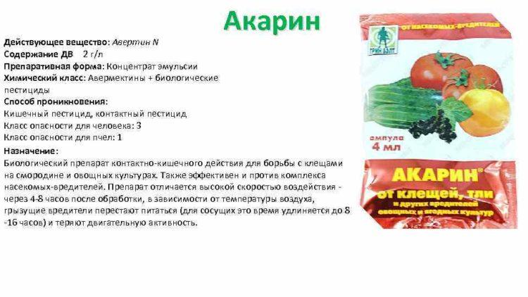 Препарат для борьбы с вредителями