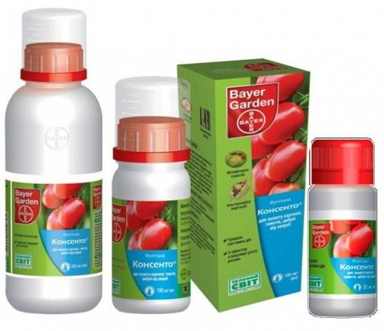 Препарат Консенто используется для лечения винограда от мучнистой росы